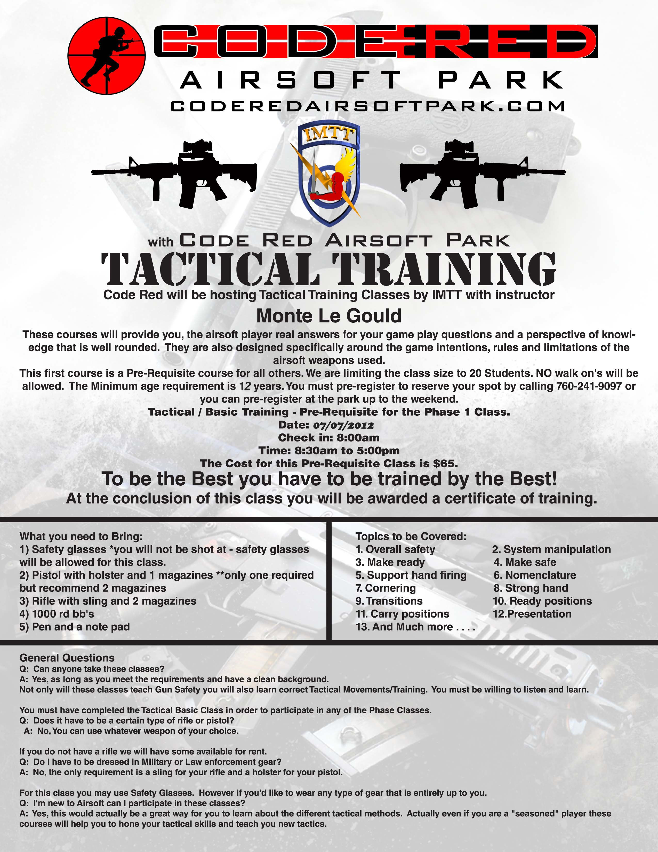 Code Red Airsoft Park | Tactical Training